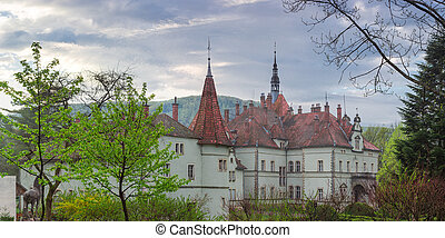 Former Carpathian residence and house hunting Count Schonborn early morning