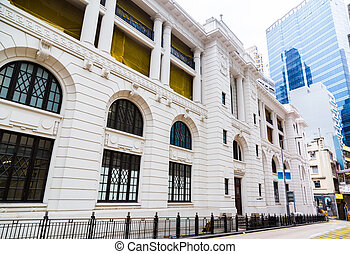 Former Central Police Station in Hong Kong China.