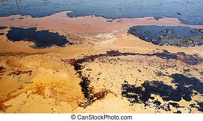 Former dump toxic waste, oil lagoon contamination water and soil