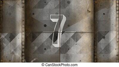 Former film countdown animation 4k
