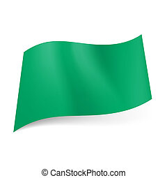 Former national flag of Libya, which represents solid green field. It was abolished in 2011.