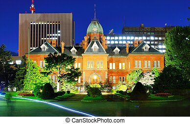 Former Hokkaido Government Office in Sapporo, Japan.