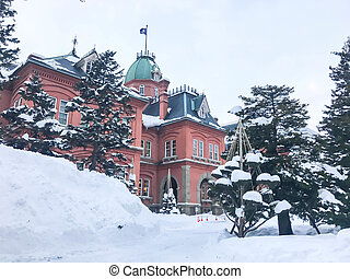 Former Hokkaido Government Office in Sapporo.
