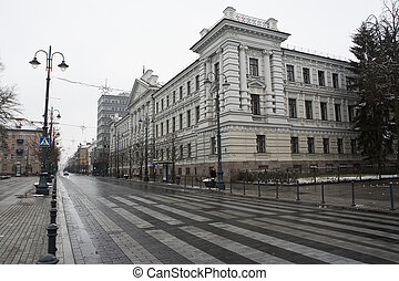 Former KGB headquarters - former KGB headquarters in the...