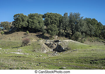 Former lime kiln in the city of Cerceda, in the province of ...