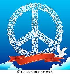 former, paix, pigeon