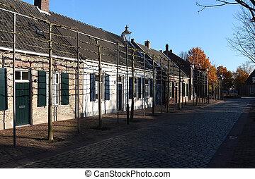 former weaver's cottages in Tilburg - street with former...