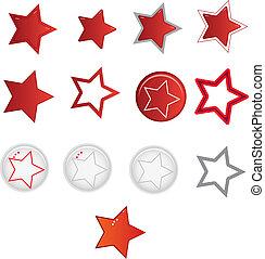 formes, étoile