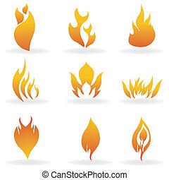 formes, brûler