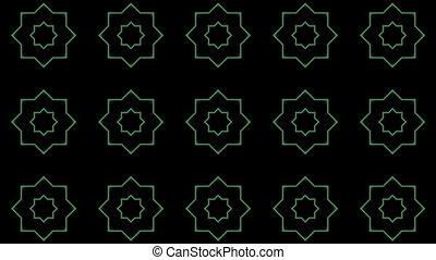 formes, clignotant, kaléidoscope