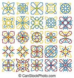 formes, décoratif, ensemble, coloré