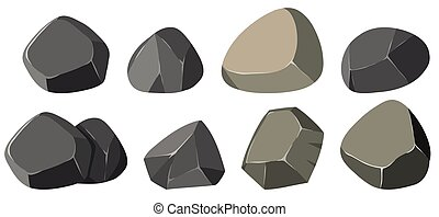 formes, différent, rochers