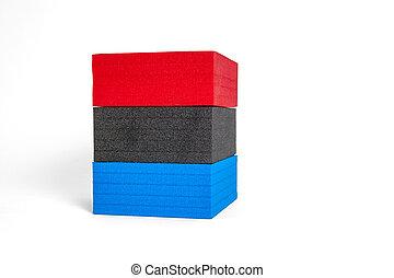 formes, drapeau, polystyrène, couleurs, francais
