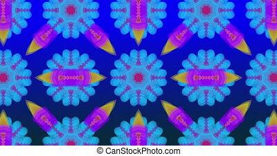formes, en mouvement, coloré, kaléidoscope, résumé, multi