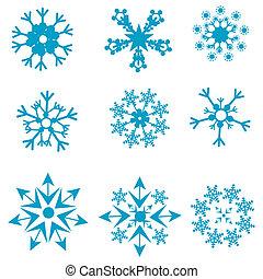 formes, flocons neige