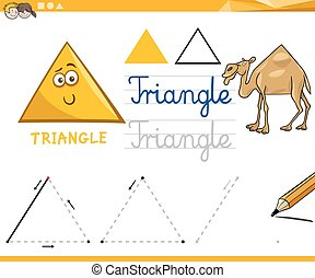 formes, géométrique, dessin animé, fondamental