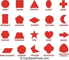 formes, géométrique, education, fondamental