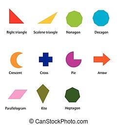 formes, géométrique, vecteur