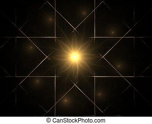 formes, graphique, géométrie, science, résumé, particules, fractal, sacré, nucléaire, sujet, physique, futuriste, design.