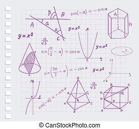formes, mathématiques, géométrique