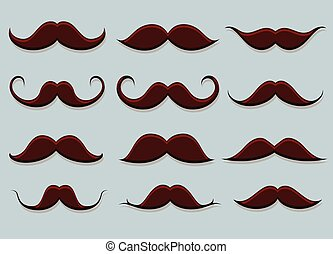 formes, moustaches, vecteur