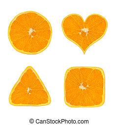 formes, orange, fruit