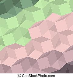 formes, résumé, vecteur, arrière-plan coloré