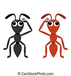 formica, nero rosso