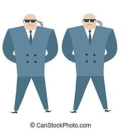 Formidable security professionals secret service bodyguards...