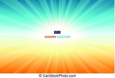 formiddag sol, shines, ind, den, himmel, ind, sommer, vacation., ind, den, sæson, i, rejse