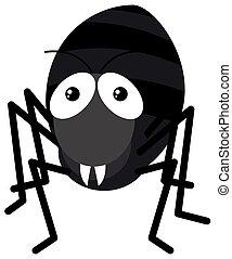 formiga, branca, experiência preta
