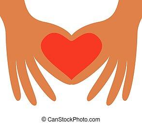 forming, сердце, рука, форма