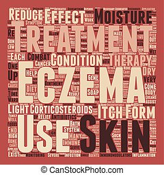 Forms Of Treatment For Eczema Sufferers text background wordcloud concept