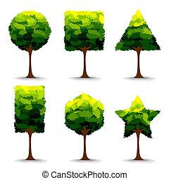 formułować, drzewo, geometryczny