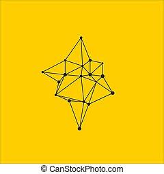 formułować, geometryczny, asymetryczny