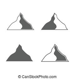 formuje, góry, komplet, monochromia