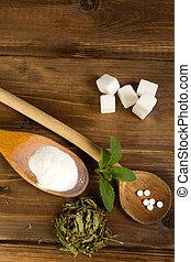 formuje, stevia, różny, sweetener