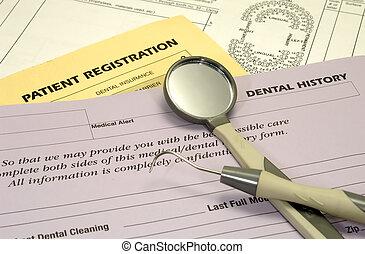 formulários, dental