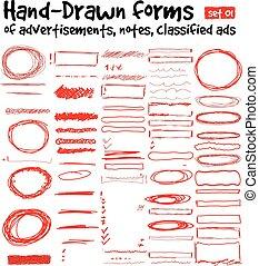 formulários, hand-drawn