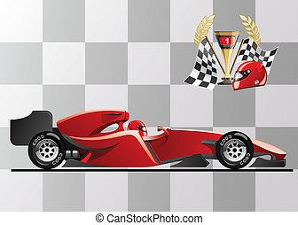 formula 1  - vector illustration of  formula 1. racing car