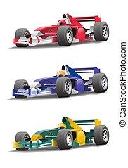 Formula 1 - illustration of a sport-car