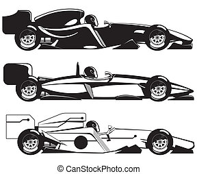 formula 1 - illustration of formula 1. three sports racing...