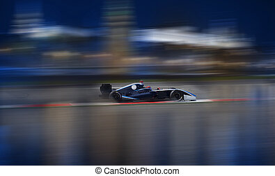Formula 2.0 races down the streets - Formula 2.0 race car...