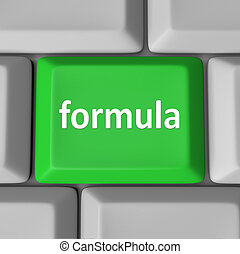 Formula Computer Key Button Calculate Figure Solution Problem