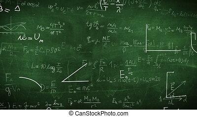"""""""Formula doodle on chalkboard background"""" - """"Formula doodle..."""