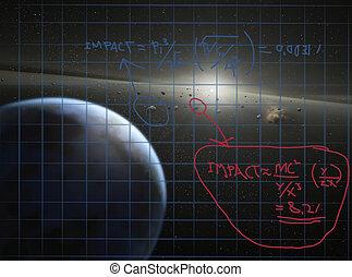 Formula for meteor impact