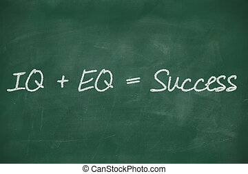 formula for success iq eq success concept