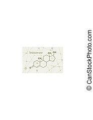 Formula hormone testosterone. - Chemical molecular formula ...