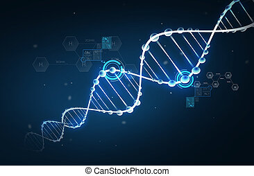 formula, idrogeno, dna, struttura, molecola