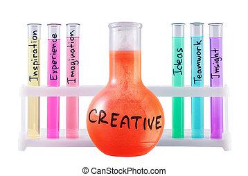 Formula of creativity. - Abstract chemical formula of ...
